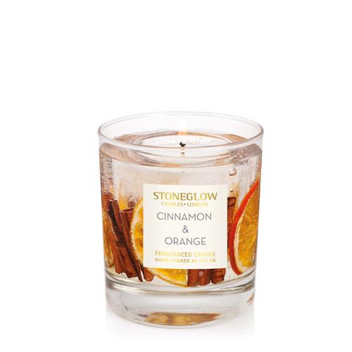 Seasonal Collection - Cinnamon & Orange -  Natural Wax Scented Candle - Gel Tumbler