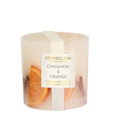 Seasonal Collection - Cinnamon & Orange - Scented Candle - Inclusion Pillar