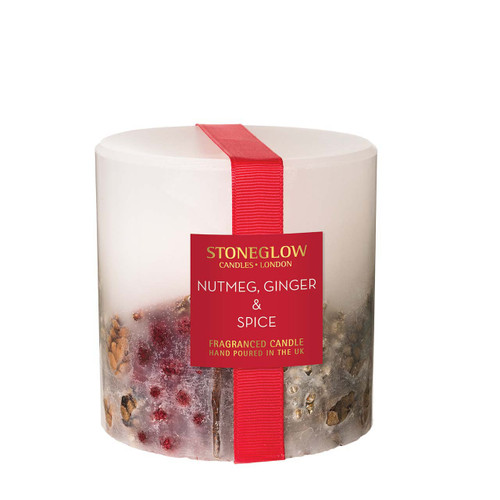 Seasonal Collection - Nutmeg, Ginger & Spice - Scented Candle - Inclusion Pillar