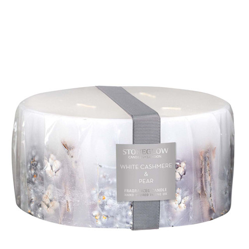 Seasonal Collection - White Cashmere & Pear - Scented Candle - 3-Wick Pillar