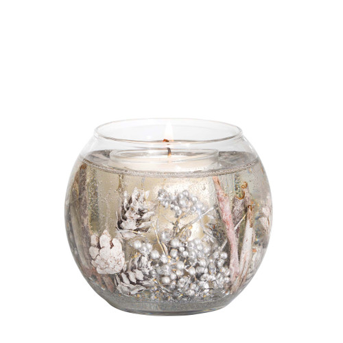 Seasonal Collection - White Cashmere & Pear - Natural Wax Scented Candle - Gel Fishbowl