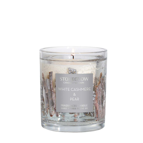 Seasonal Collection - White Cashmere & Pear - Natural Wax Scented Candle - Gel Tumbler