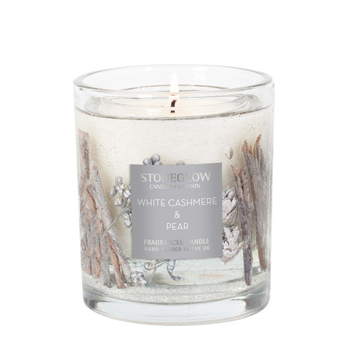 Seasonal Collection - White Cashmere & Pear - Natural Wax Scented Candle - Gel Vase (Large)