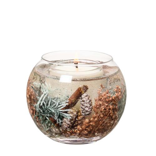 Seasonal Collection - Juniper Berry & Cedar - Natural Wax Scented Candle - Gel Fishbowl