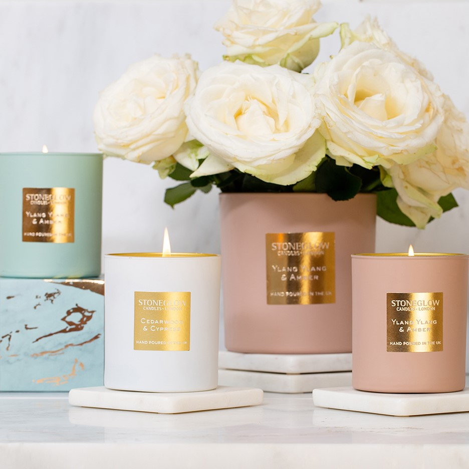 Luna Stoneglow Candles Collection