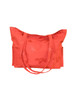Jacquard Silk Tote Bag Yoga or Resort Wear - Tangerine Pom Koi