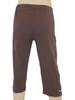 Men's Mana Crop Yoga & Fitness Pants Brown- Organic Cotton