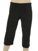 Men's Mana Crop Yoga & Fitness Pants Black- Organic Cotton