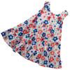 Ditsy Daisy Tiered Dress .  Organic Cotton - Fair Trade