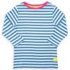 Organic Cotton Girl's 3/4 Sleeve Nautical T-shirt - Fair Trade