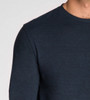 Men's Basic L/ S Crew Neck Pocket Tee - Organic Cotton Blend