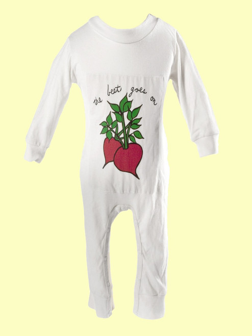 Beet Goes On Romper -  100% Organic Cotton