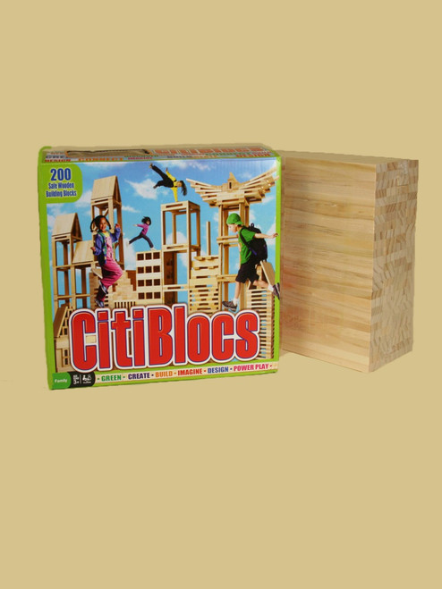 200 Piece Wooden Building Set - Sustainable