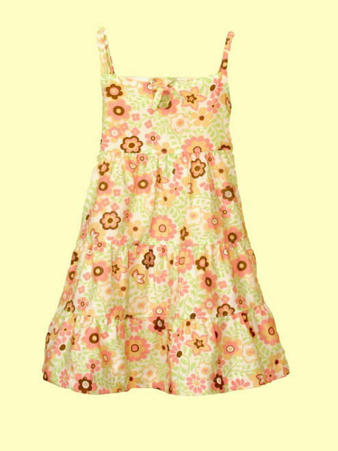 Poplin 3 Tier Dress -100% Organic Cotton