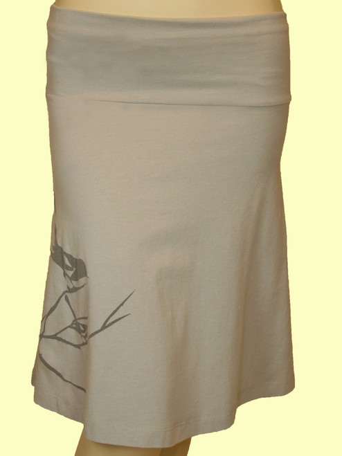 Bird on Branch Skirt - Organic Cotton