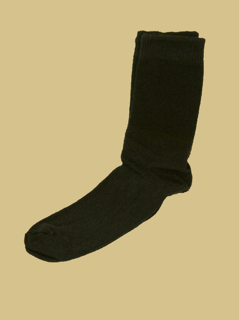 Black Crew Paired Socks- Recycled Cotton