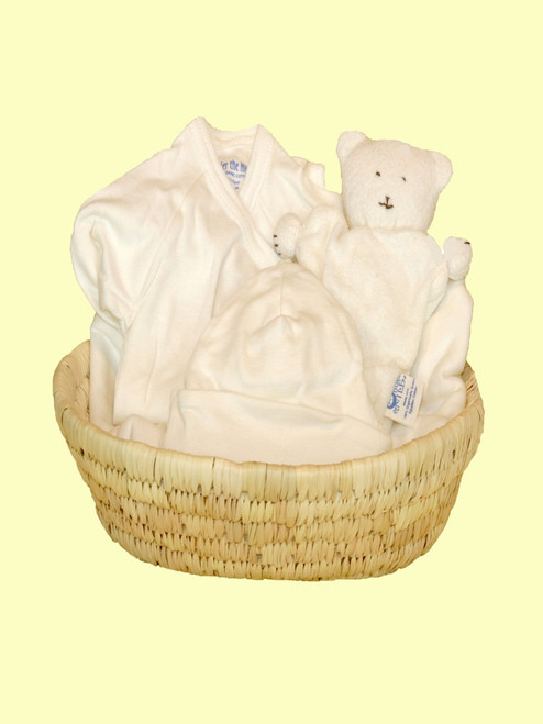 Baby Gift Basket - Certified 100% organic cotton
