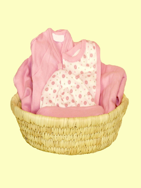 Baby Girl Basket - Certified 100% organic cotton