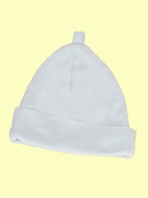 Baby Boy Blue Scull Hat - Certified 100% organic cotton