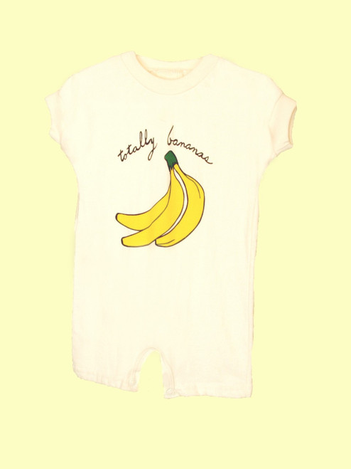 Going Bananas Short Sleeve Romper - Certified Organic Cotton