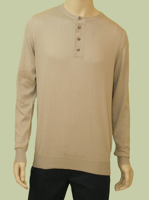 Chaz 4 Button Henley - Organic Cotton