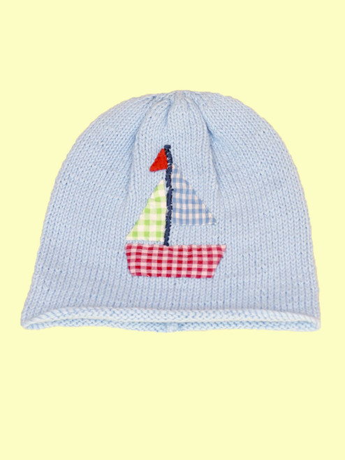 Sailboat Motif Hat - Fair Trade