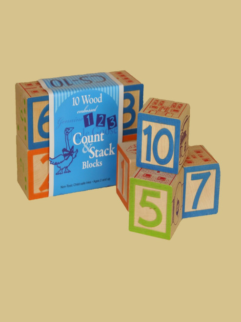 Count & Stack Number Blocks  - Sustainable Wood