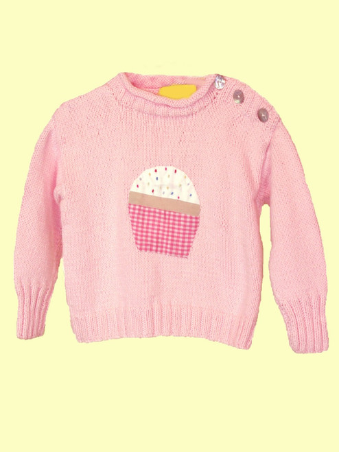 Cupcake Motif Sweater - 100% Cotton Fair Trade