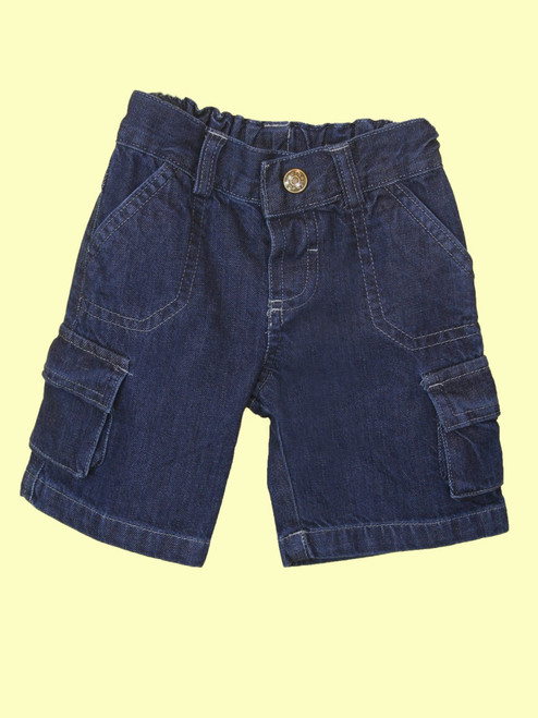 Denim Cargo Short - Organic Cotton
