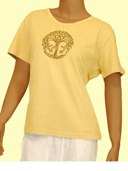 Tree Pose Better Than Before Scoop Neck Shirt - 55% Hemp / 45% Organic Cotton