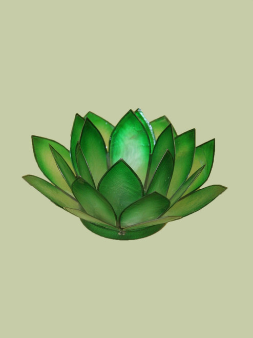 Emerald Small Lotus Tealight Holder