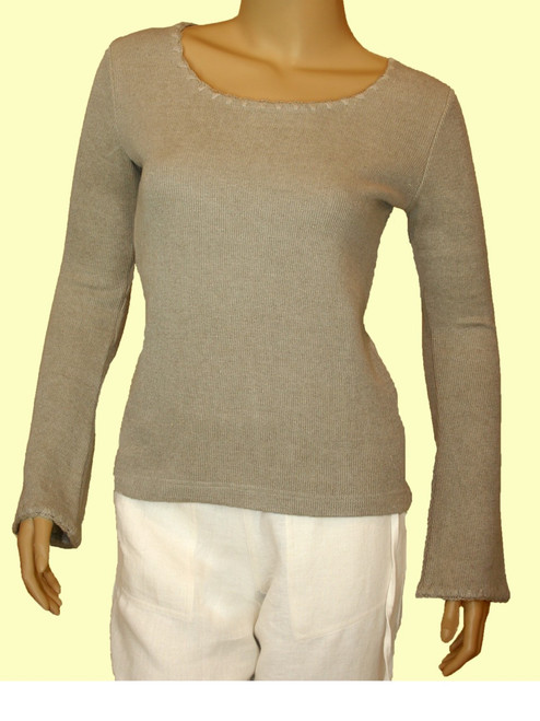 Knit Long Sleeve Pullover - Hemp / Flax