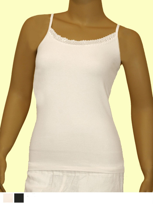 Lace Camisole - Organic Cotton