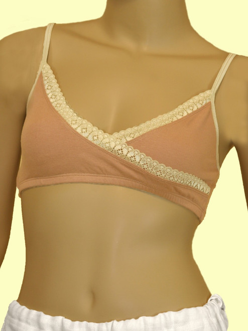 Lace Crossover Bra - Organic Cotton