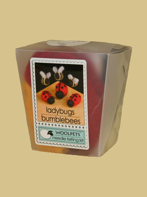 Ladybugs and Bumblebees Wool Needle Felting Kit