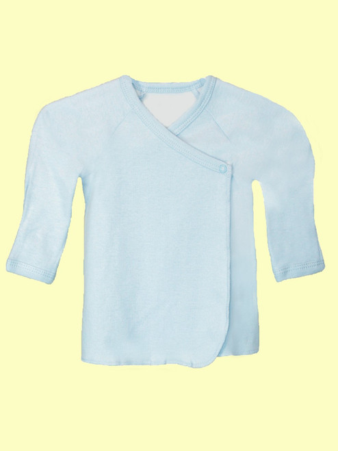Baby Boy Long Sleeve Undershirt  -Organic Cotton