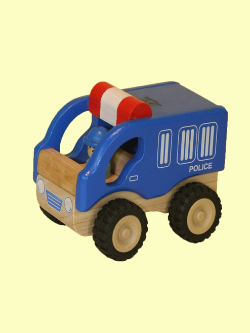 Mini Police Car -  Sustainable Rubber Wood
