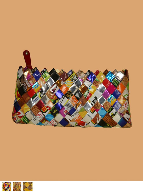 Moonlite Clutch - Recycled Hand Woven