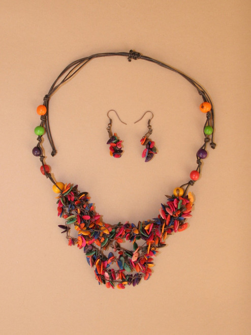 Multithreads  Necklace & Earring Set