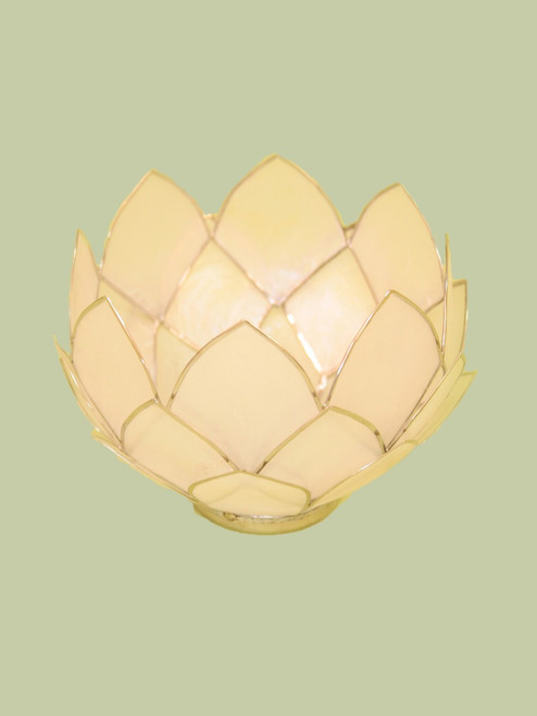 Natural w/Gold Bowl Tealight Holder