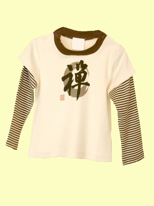 Baby Zen Letter Top - Organic Cotton