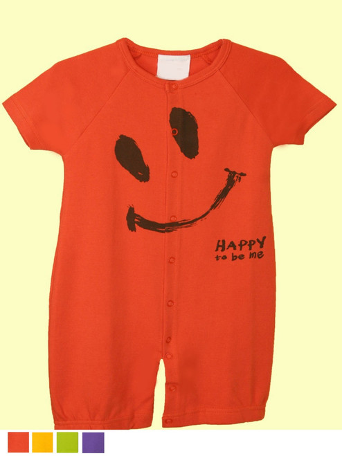 Ha-Ha Smile Gown/Romper - Organic Cotton