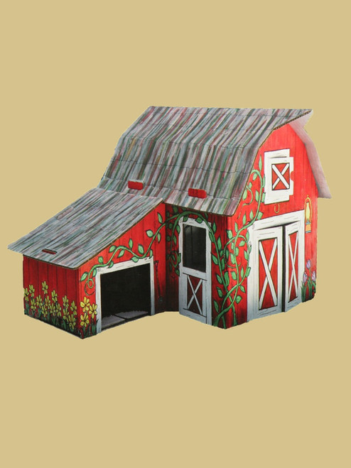 Paintable Barn - Recycled Cardboard