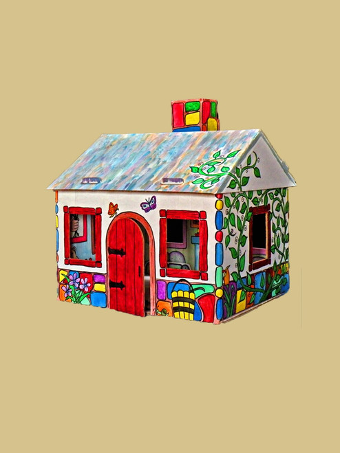 Paintable Cottage - Recycled Cardboard