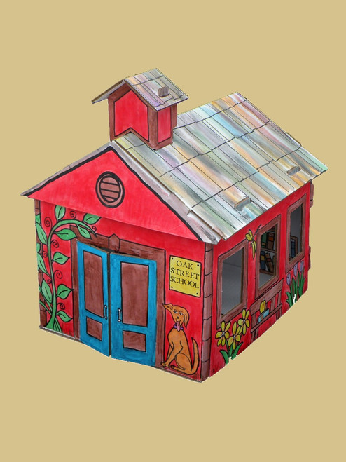 Paintable Schoolhouse - Recycled Cardboard