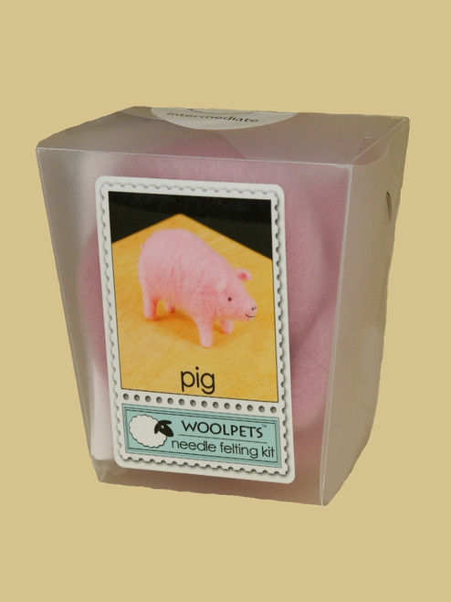 Pig Wool Needle Felting Kit