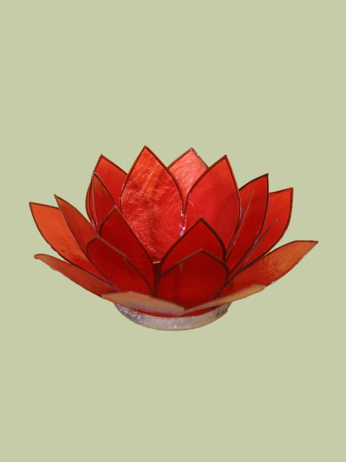 Rich Red Small Lotus Tea Light Holder