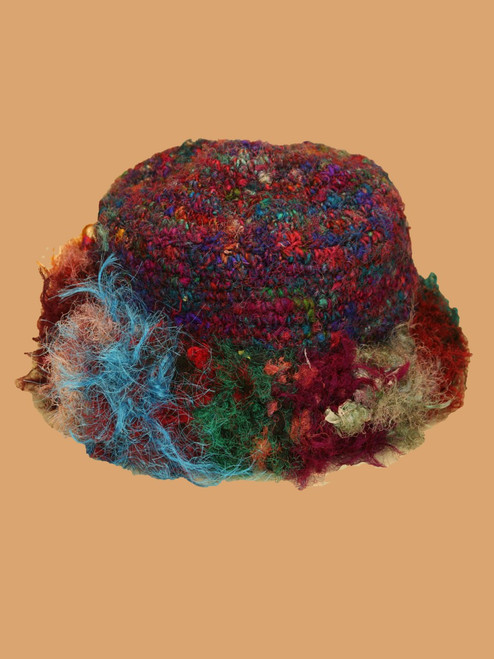 Recycled Sari Silk Big Fold Hat