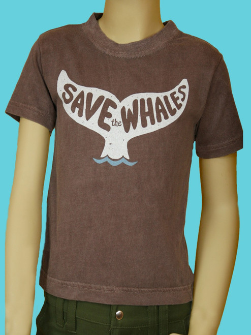 Save the Whales Tee - 100% Organic Cotton