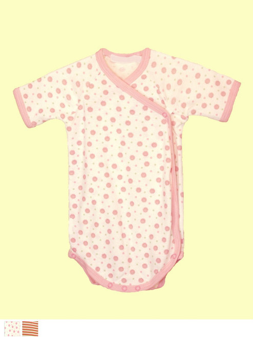 Girl Short Sleeve Babybody - 100% organic cotton